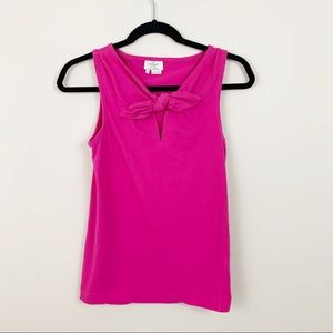 KATE SPADE ♠️ Pink Bow Tank Top Small